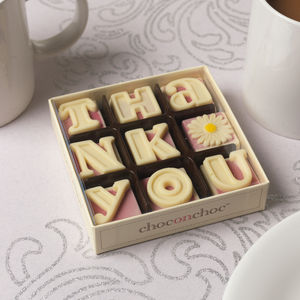 Handmade 'Thank You' Chocolates - chocolates