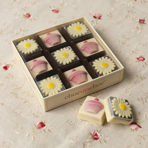 Handmade Chocolate Daisies And Cupcakes - chocolates