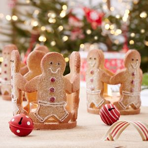 Gingerbread Christmas Tea Light Holder - christmas home