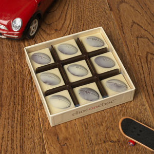 Handmade Chocolate Rugby Balls - gifts for teenagers