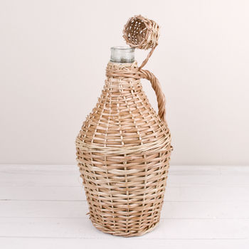 French Demijohn Wicker Wine Store