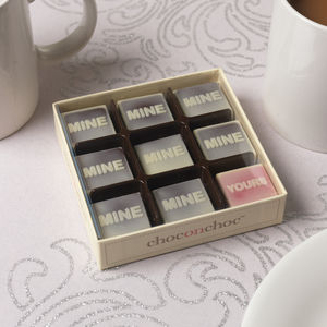'Mine, Mine, Yours' Chocolates - gifts for him