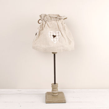 Country Table Lamp With Fabric Shade
