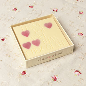 Chocolate Love Message - gifts for her