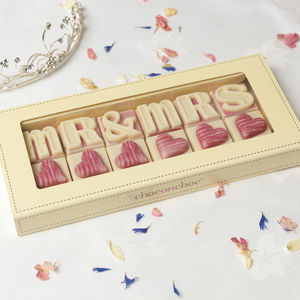 Mr And Mrs Wedding Chocolates - wedding gifts