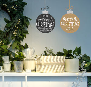 Christmas Bauble Wall Sticker