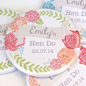 Personalised Floral Hen Party Mirror
