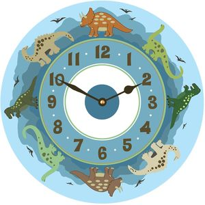 Dinosaur Clock - children's room accessories