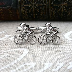 Cycling Bike Cufflinks - men's jewellery
