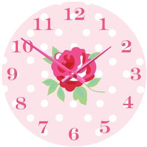 Vintage Rose Clock - clocks