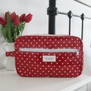 Spotty Personalised Wash Bag