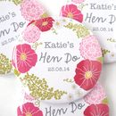 Personalised Flower Hen Party Badge
