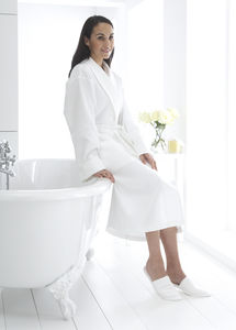 Trieste Light Waffle Personalised Bath Robe - bathrobes