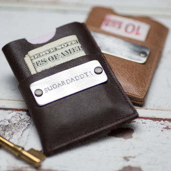 Personalised Leather Card Wallet