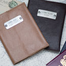 Personalised Leather Passport Holder