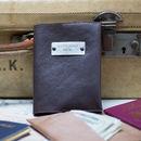 Personalised Leather Passport Holder