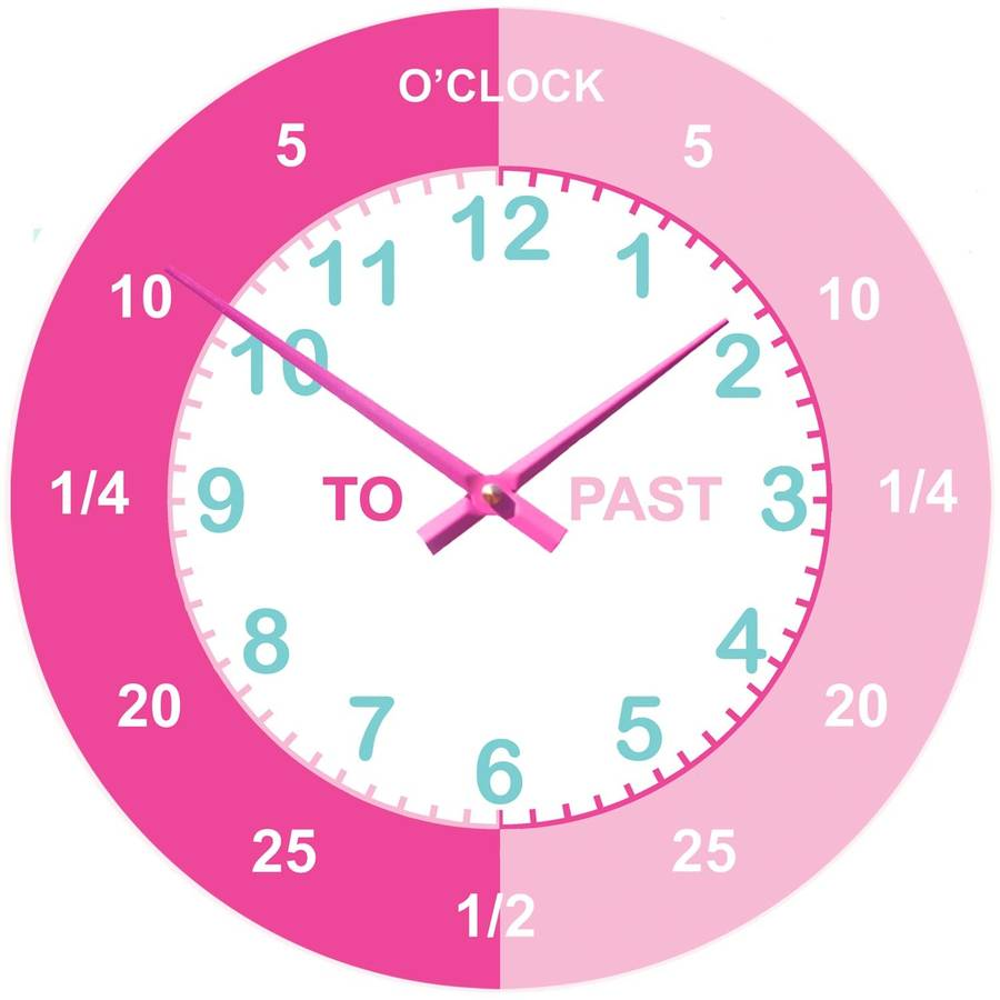 teaching wall clock by cute-clocks : notonthehighstreet.com