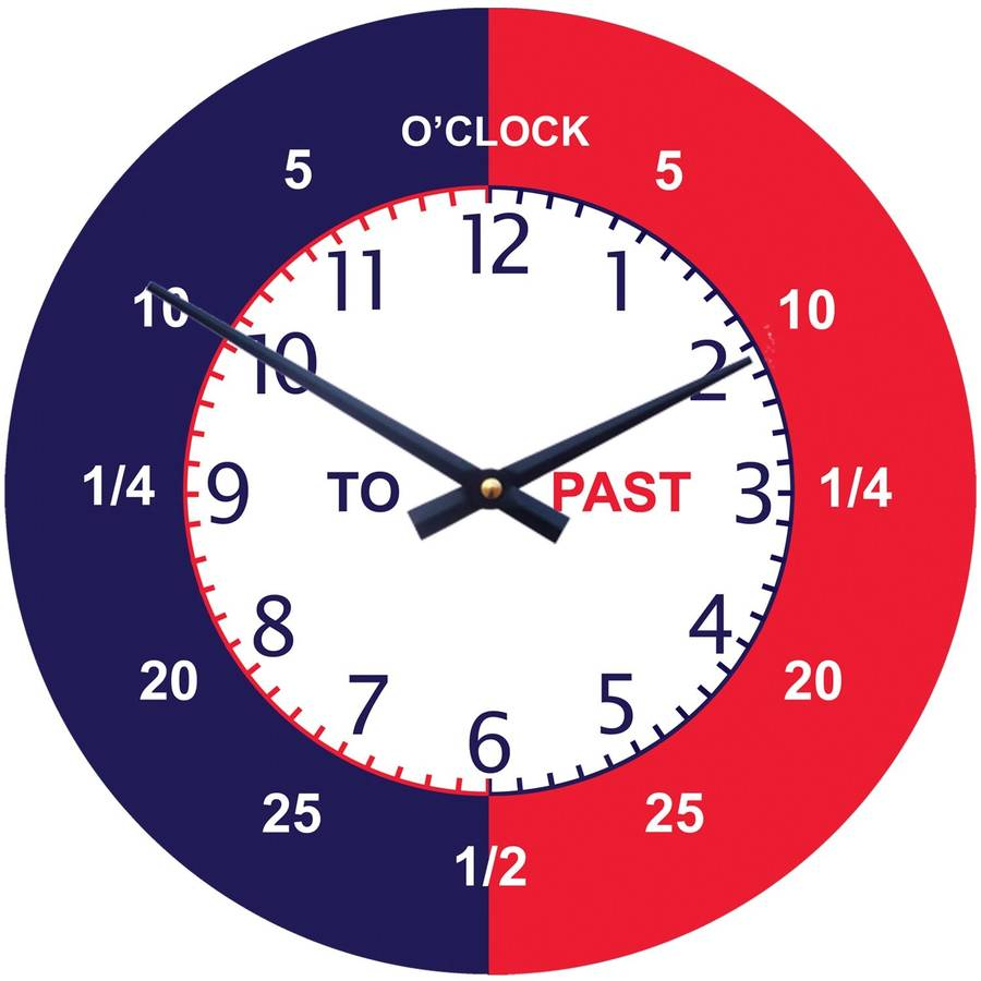 Pictures of Clocks For Teaching Time Time Teaching Wall Clock by
