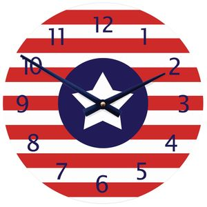 Stars And Stripes Clock - children's clocks