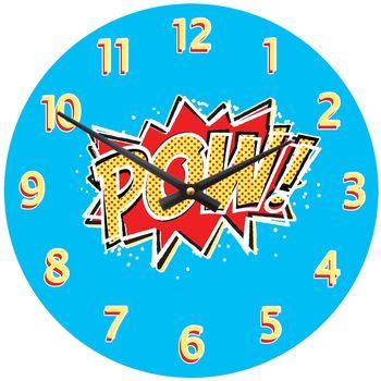 'Pow' Comic Strip Clock