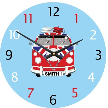 Personalised Camper Van Wall Clock