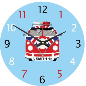 Personalised Camper Van Wall Clock - clocks