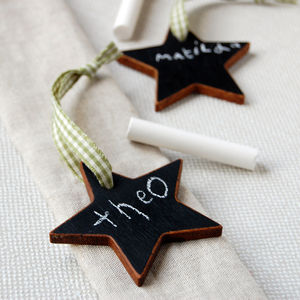 Mini Wooden Blackboard Star Decoration - extraordinary table decorations