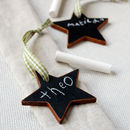 Mini Wooden Blackboard Star Decoration
