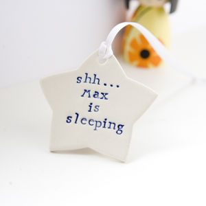 Personalised New Baby Gift Door Hanger - children's room