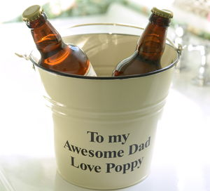 Personalised 'Boozy' Gift Bucket - men's grooming & toiletries
