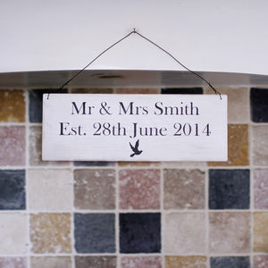 Personalised Wooden Wedding Sign - home accessories