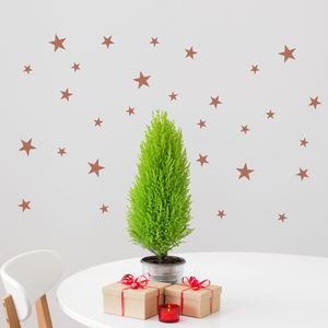 Copper Effect Star Wall Sticker Set - wall stickers