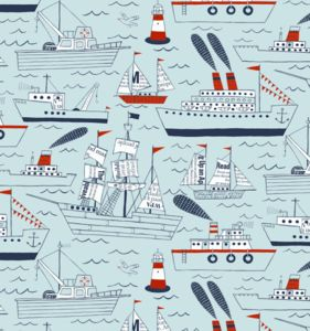 Ships And Sails Wallpaper Sample - baby's room