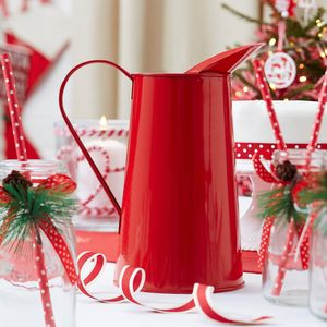 Red Metal Christmas Jug - view all decorations