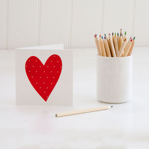 Red Heart Greeting Card - shop by occasion
