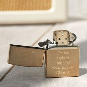 Personalised Zippo Lighter - picnics & barbecues