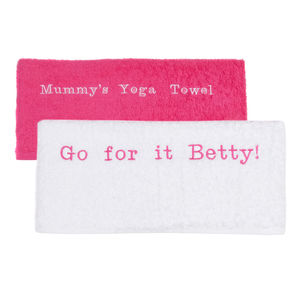 Personalised Women's Embroidered Gym Towel