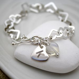 Child's Personalised Silver Heart Bracelet - gifts for children