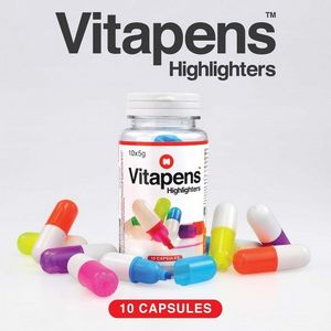'Vitamin Pill' Highlighter Pens - desk accessories
