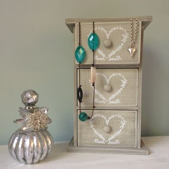 French Inspired Jewellery And Trinket Drawers Box
