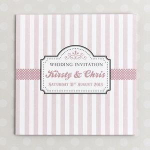 Candy Shop Wedding Invitation - invitations