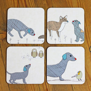 Curious Dog Coaster