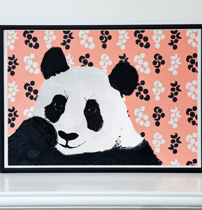 Panda Screen Print - animals & wildlife
