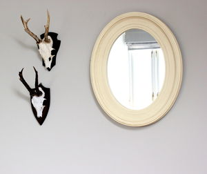 Vanilla Oval Mirror - bedroom