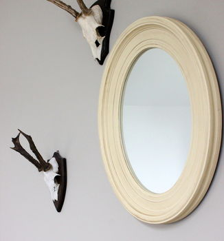 Vanilla Oval Mirror