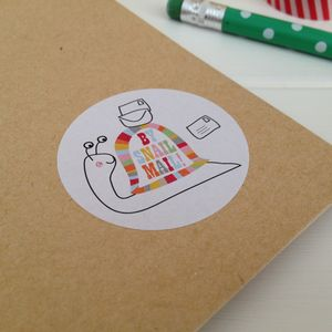 'By Snail Mail' Post And Letter Stickers - gift wrap sets
