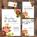 Vintage Floral Wedding Invitation And Stationery