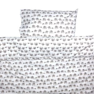 Grey Elephant Toddler Cot Bed Duvet Set