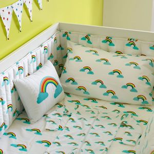 Rainbow Cot Bed Bumper - baby's room