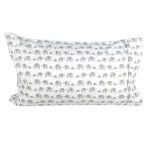 Grey Elephant Single Pillowcase - bed, bath & table linen